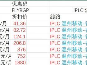 IPLC,温州移动-香港BGP,温州BGP-香港BGP